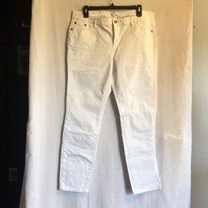 Crown & Ivy White Straight Leg Pants